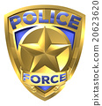 Police Force Gold Badge 20623620