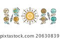 Solar System Icon Flat Design Style 20630839