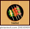 Asian Yakitoris Skewers Set 20630909