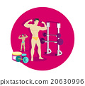 Bodybuilding Sport Concept Icon Flat Design 20630996