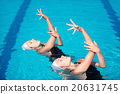Synchronized swimming duet 20631745