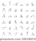 Hand drawing line cartoon yoga for pregnancy 20638659