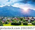 Beautiful mountainous village 20639057