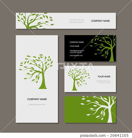Business cards design green tree stock illustration 20641105 business cards design green tree colourmoves