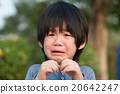 asian boy  crying in the park 20642247