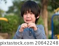 asian boy  crying in the park 20642248