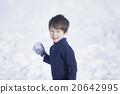 男孩 男孩们 雪球大战 20642995