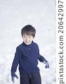 男孩 男孩们 雪球大战 20642997
