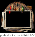 Fishing Tackle and Empty Photo Frames 20643322