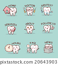cute cartoon tooth set 20643903