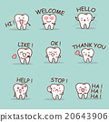 cute cartoon tooth set 20643906