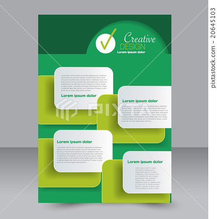 brochure design flyer template a4 poster stock illustration
