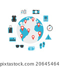 world travel icon 20645464
