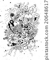 Hand Drawn of Monster party background 20648617