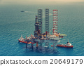 Offshore oil rig drilling platform(color tone) 20649179