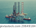 Offshore oil rig drilling platform(color tone) 20649184