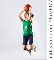 Young girl basketball player 20650077