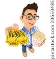 movie, holding, popcorn 20650485