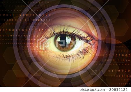 Woman eye in circles 20653122