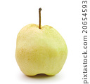 Pear in closeup on a white background 20654593
