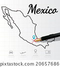 Mexico map Infographic 20657686