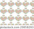Heart shaped Asian pattern floral herbs succulent plants ornament plants deconik cactus plant watercolor 20658263