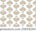 Heart shaped Asian pattern floral herbs succulent plants ornament plants deconik cactus plant watercolor 20658264