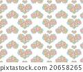 Heart shaped Asian pattern floral herbs succulent plants ornament plants deconik cactus plant watercolor 20658265