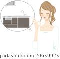厨房 供水 人类 20659925