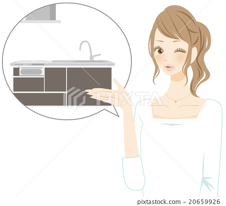 kitchen, kitchens, female 20659926