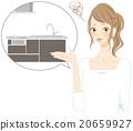 廚房 供水 人類 20659927