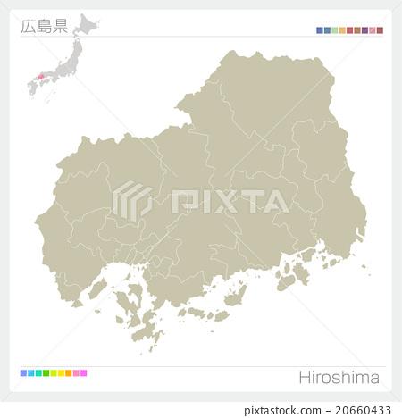 Map of Hiroshima Prefecture - Stock Illustration [20660433] - PIXTA