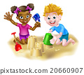 Children Playing in the Sand 20660907
