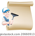 Cartoon Window Cleaner 20660913