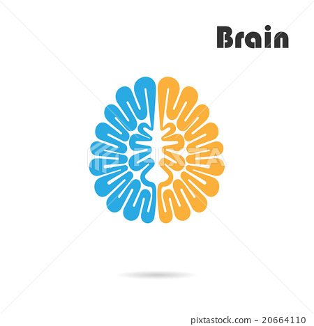 Creative brain abstract vector logo design - Stock ...