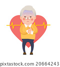 Old Man Heart Attack, Chest Pain Cartoon Character 20664243