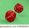 Red rolling dices 20666695