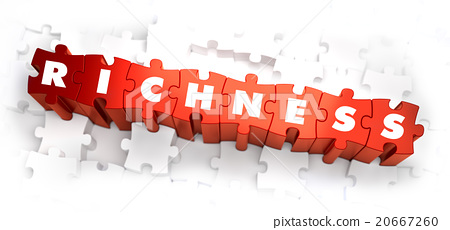 Richness - White Word on Red Puzzles. 20667260