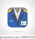 Railway staff flat color design vector icon 20667526