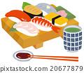壽司 日式料理 茶杯 20677879