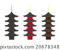 """Illustration material """"five-storied pagoda"""" 20678348"""