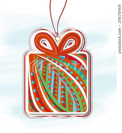 크리스마스 크리스마스 요소 카드 20678469