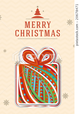 크리스마스 크리스마스 요소 카드 20678471