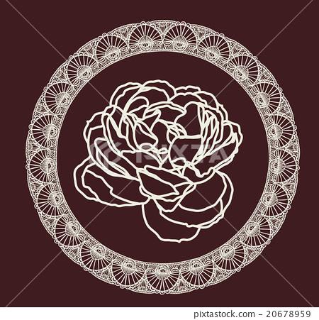 裝飾畫 花 玫瑰 20678959