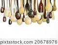 Assorted different kitchen wooden utensils 20678976