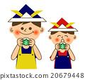 柏市麻薯(包裹在橡樹葉子裡的年糕) 武士頭盔 兒童節 20679448