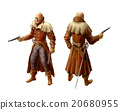 Victorian character with guns in coat  20680955