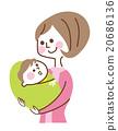아기를 안고있는 어머니 20686136