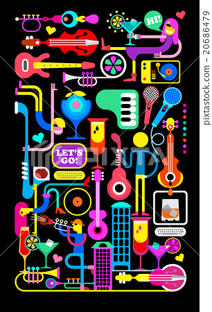 Cocktail Party Vector Illustration 20686479