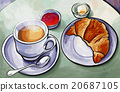 Fresh french breakfast with coffee 20687105